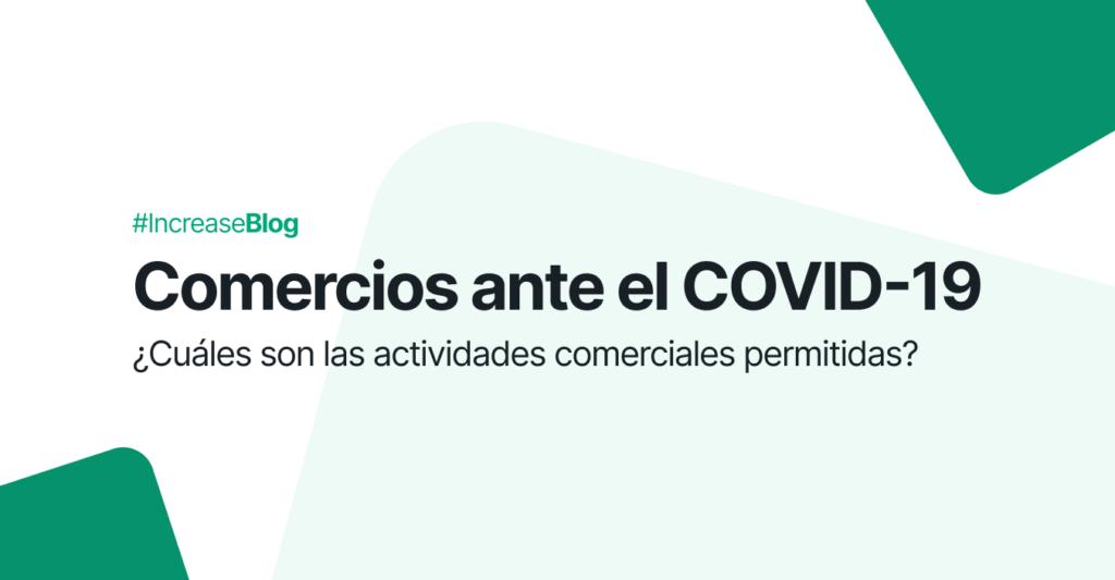 Comercios ante el COVID-19